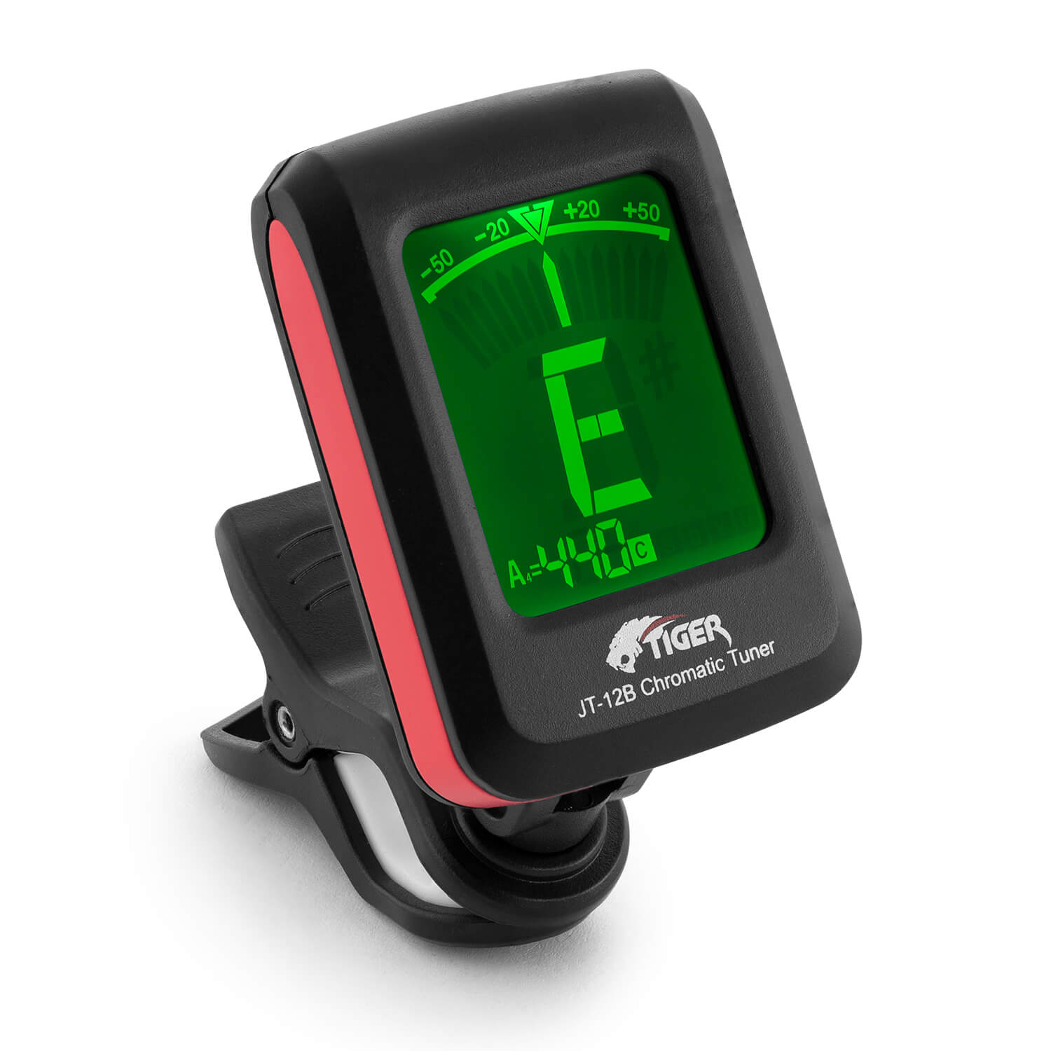 tiger jt 12b clip on chromatic guitar tuner acoustic electric bass string ebay. Black Bedroom Furniture Sets. Home Design Ideas