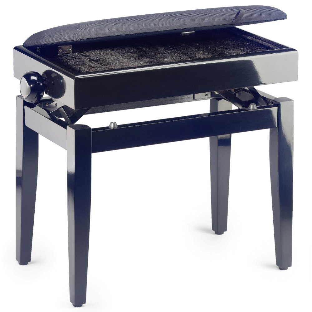 Stagg Adjustable Piano Stool with Storage  sc 1 st  DJM Music & Stagg Gloss Black Adjustable Piano Stool with Storage islam-shia.org