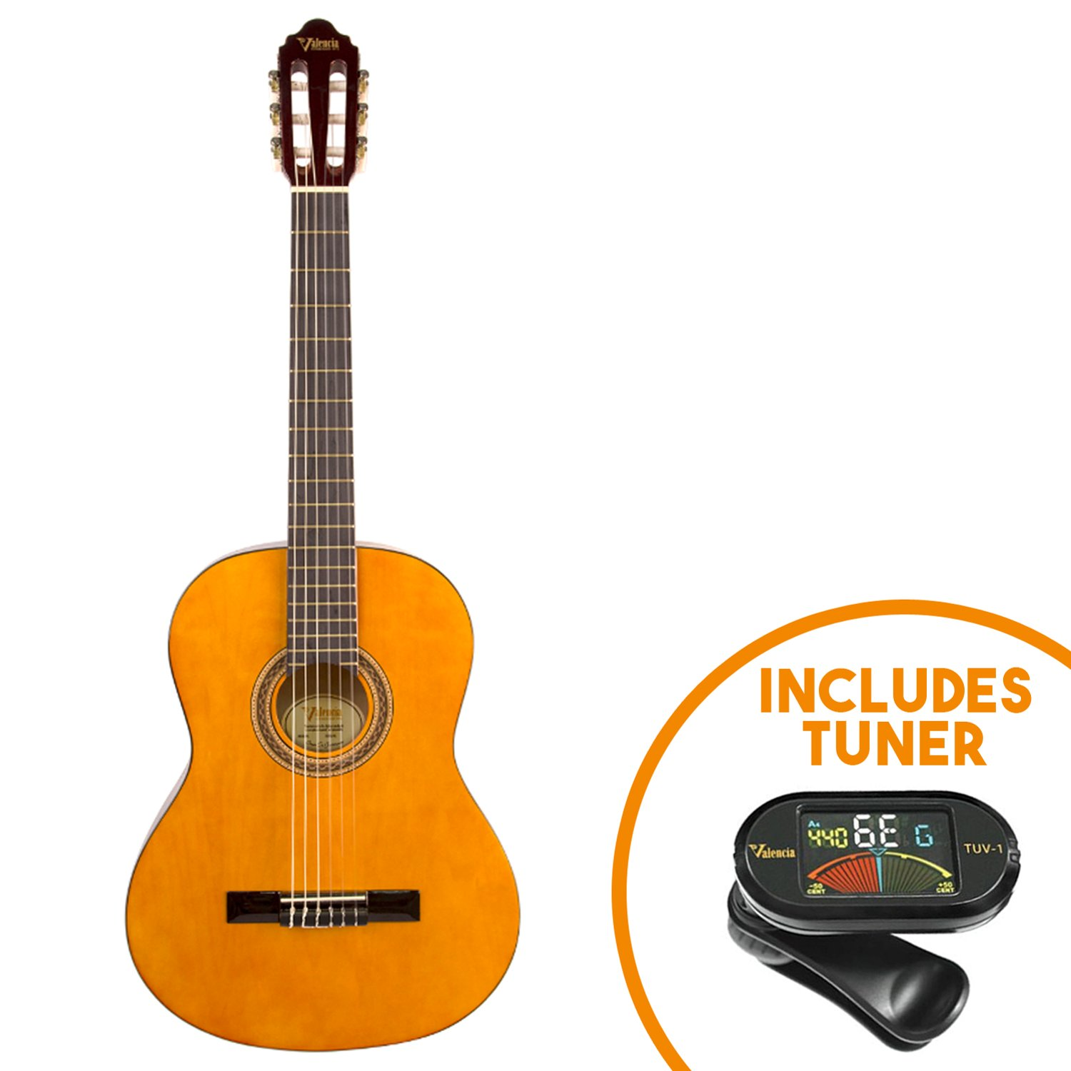 Valencia 100 series classical 1 2 size guitar pack ebay for Luthier valencia