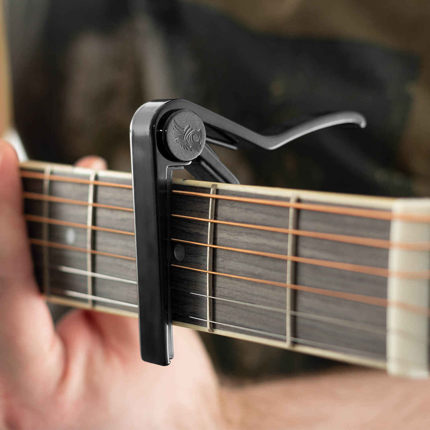 Tiger Black Universal Trigger Guitar Capo for Acoustic, Classic, Electric Guitar 2