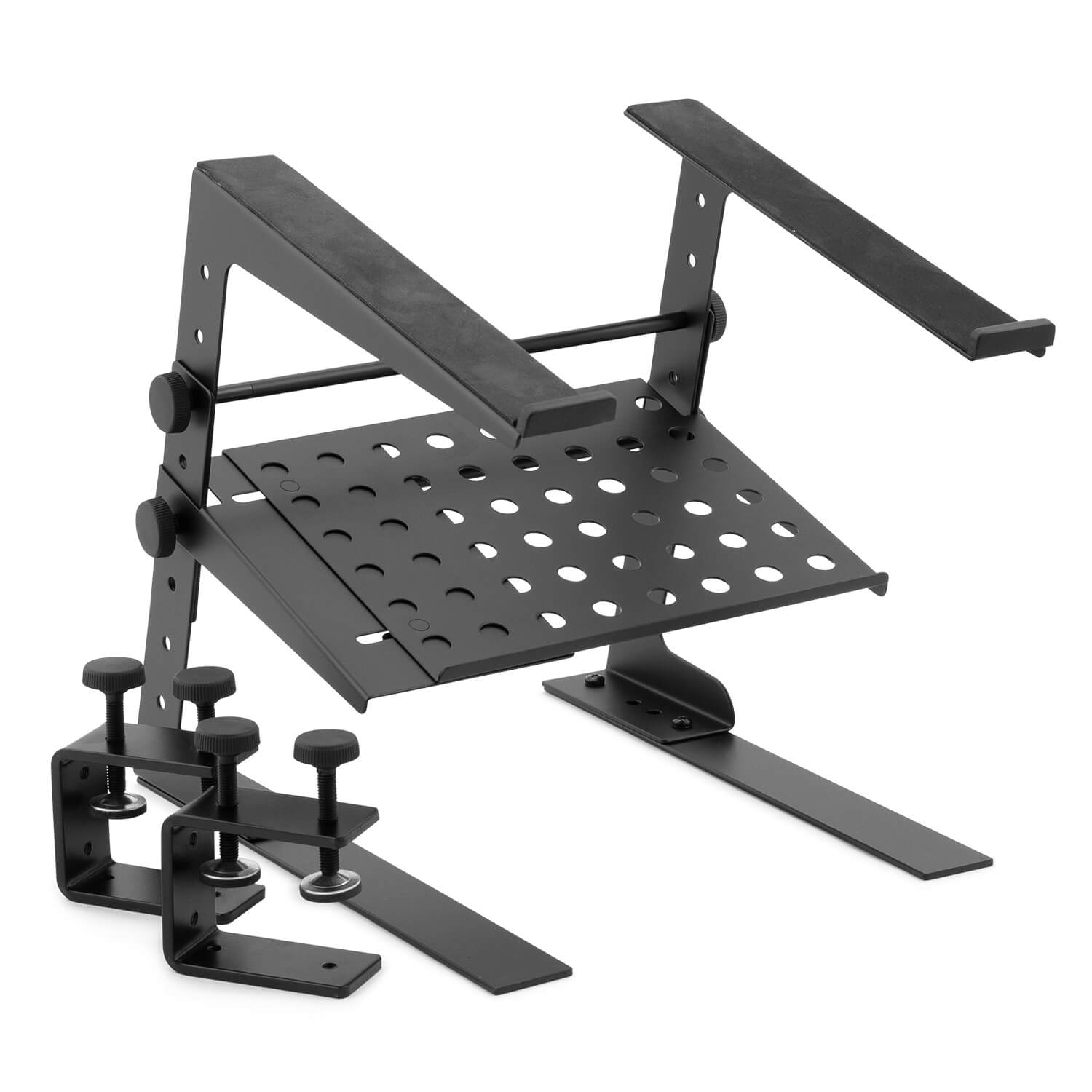 Tiger-Laptop-Stand-DJ-Stand-with-Shelf-and-Desktop-Clamps thumbnail 2