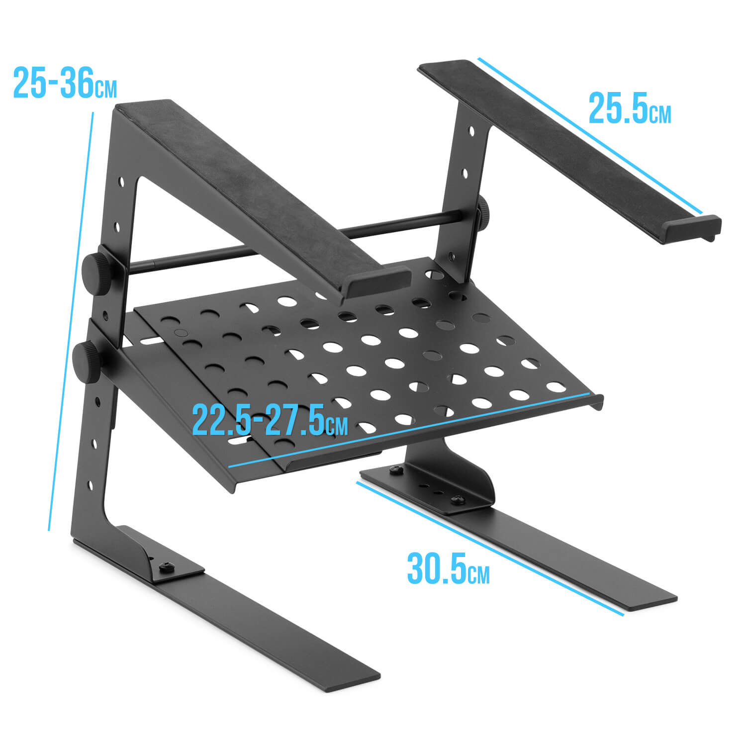 Tiger-Laptop-Stand-DJ-Stand-with-Shelf-and-Desktop-Clamps thumbnail 6