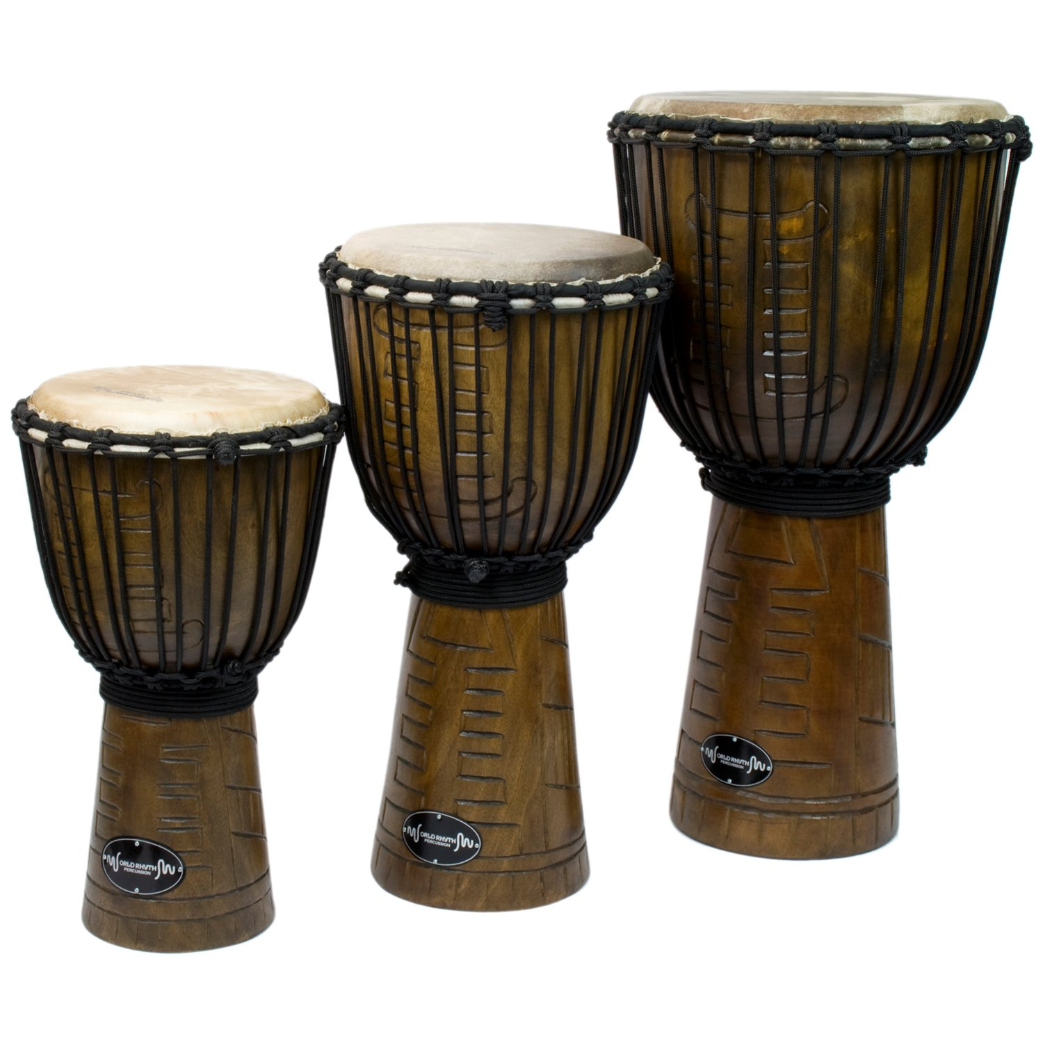 Wooden Djembe Drums by World Rhythm Percussion - African ...