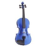 B GRADE - Harlequin Blue 4/4 Size Violin Outfit - Damaged/Used