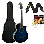Acoustic Guitar in Blue - Small Body Cutaway