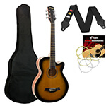 Acoustic Guitar in Sunburst - Small Body Cutaway