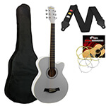 Acoustic Guitar in White - Small Body Cutaway