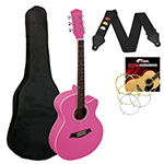 Jasmin 3/4 Size Acoustic Guitar for Beginners Guitar - Pink