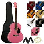 Jasmin Acoustic Guitar Package for Beginners - Pink
