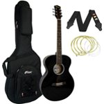 Tiger Black Acoustic Guitar Package with Premier Padded Bag