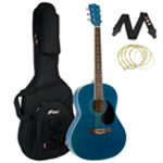 Tiger Blue Acoustic Guitar Package with Premier Padded Bag