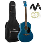 Tiger Blue Acoustic Guitar Package with Padded Bag