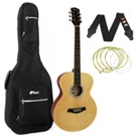 Tiger Natural Acoustic Guitar Package with Padded Bag
