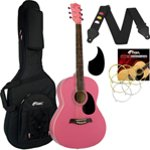 Tiger Pink Acoustic Guitar Package with Premier Padded Bag