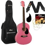Tiger Pink Acoustic Guitar Package with Padded Bag