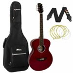 Tiger Red Acoustic Guitar Package with Padded Bag