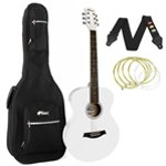 Tiger White Acoustic Guitar Package with Padded Bag