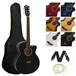 Tiger Acoustic Guitar for Students - Black