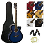 Tiger Acoustic Guitar for Students - Blue