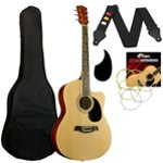 Tiger Acoustic Guitar Pack for Students - Natural