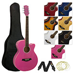 Jasmin Acoustic Guitar for Students - Pink