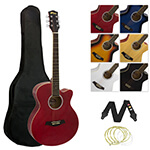 Tiger Acoustic Guitar for Students - Red