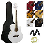 Tiger Acoustic Guitar for Students - White