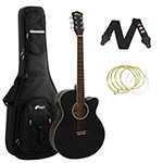 Tiger Black Electro Acoustic Guitar Package with Premier Padded Bag
