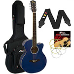 Tiger Blue Electro Acoustic Guitar Package with Premier Padded Bag