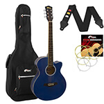Tiger Blue Electro Acoustic Guitar Package with Padded Bag