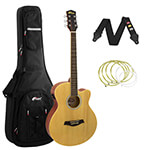 Tiger Natural Electro Acoustic Guitar Package with Premier Padded Bag