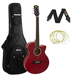 Tiger Red Electro Acoustic Guitar Package with Premier Padded Bag