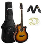 Tiger Sunburst Electro Acoustic Guitar Package with Premier Padded Bag