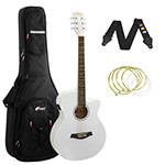 Tiger White Electro Acoustic Guitar Package with Premier Padded Bag
