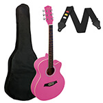 Small Body Acoustic Guitar for Beginners Guitar - Pink