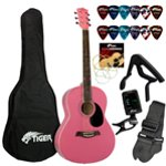 Jasmin Beginners Acoustic Guitar Package - Pink