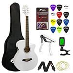 Tiger Beginners Electro Acoustic Guitar Package - White