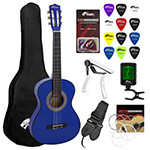Tiger 3/4 Size Blue Classical Guitar Package
