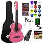 Jasmin 3/4 Size Pink Classical Guitar Package