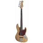 Stagg Natural Semi-Gloss Standard \\'\\'Jazz\\'\\' Electric Bass Guitar