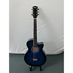 B-GRADE Tiger Small Body Acoustic Guitar - Blue