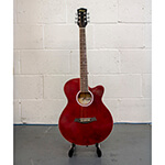 B-GRADE Tiger Acoustic Guitar for Students - Red