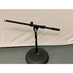 B-Grade Tiger Desktop Boom Microphone Stand with Round Base