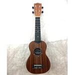 B-GRADE Tiger Mahogany Body/Top Soprano Ukulele with Gig Bag