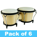 World Rhythm Bongo Drums - Pack of 6