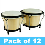 World Rhythm Bongo Drums - Pack of 12