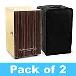 World Rhythm Black Cajon Box Drum - Pack of 2