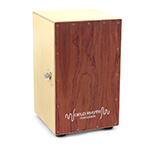 World Rhythm Brown Cajon Box Drum with Adjustable Snare