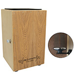 World Rhythm Natural Cajon Box Drum with Adjustable Snare