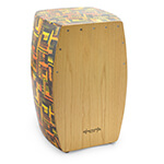 World Rhythm PVC Cajon with Wooden Front Plate